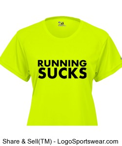 Limited Edition Running Sucks Ladies T-Shirt Design Zoom
