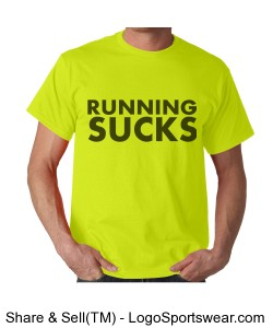 Limited Edition Running Sucks Wicking T-Shirt Design Zoom
